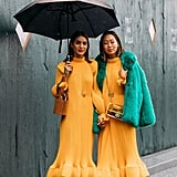 If you are going to wear the same Tibi dress as your bestie, be sure to sport different accessories like Camila Coelho and Aimee Song.