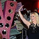 Britney Spears waved to fans during her official arrival at Planet Hollywood in Las Vegas.