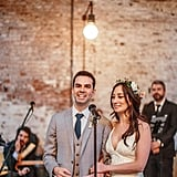 We Love That the Bride and Groom Both Wore Converse at Their Cool Industrial Wedding