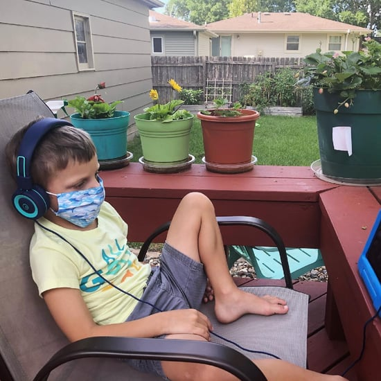 Dad's Hack For Getting Kids to Practice Wearing Face Masks