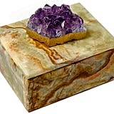Lacquer Box With Amethyst Crystal