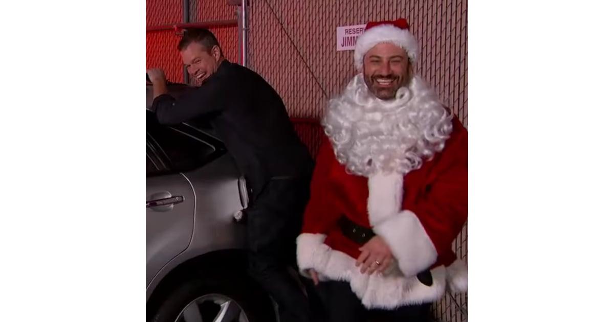 Matt Damon Pranks Jimmy Kimmel December 2015   POPSUGAR Celebrity