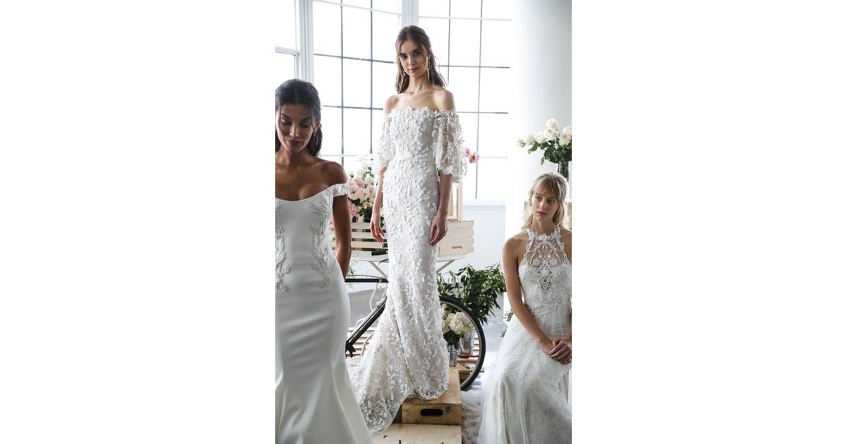 3d floral appliqué wedding dress trends fall 2018 popsugar