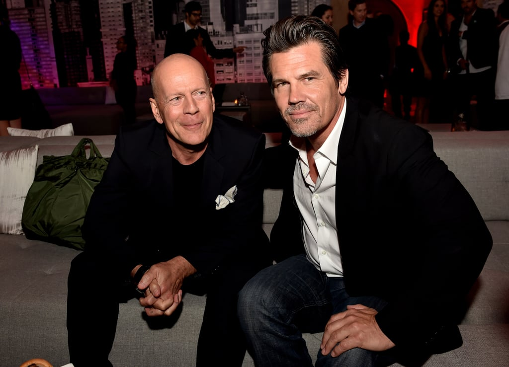 Bruce Willis and Josh Brolin were a handsome pair of pals at the Sin City: A Dame to Kill For premiere afterparty in LA on Tuesday.