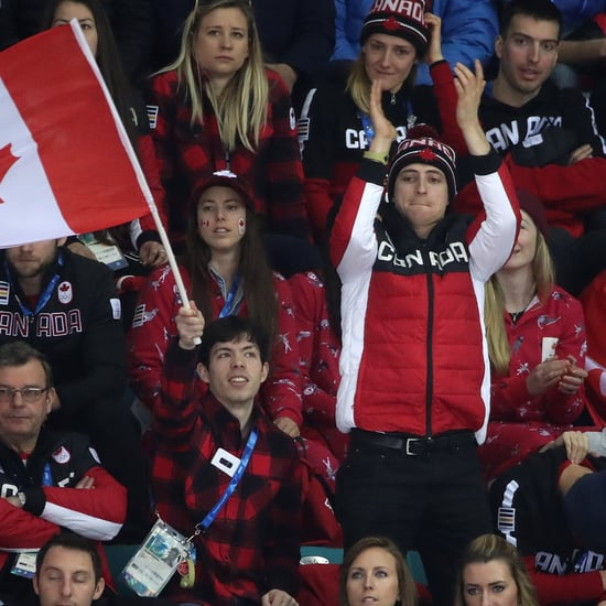 Scott Moir at Team Canada Women's Hockey Game