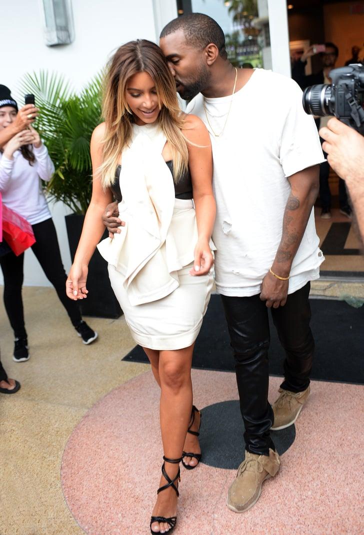 d9832b878c68 Kim Kardashian and Kanye West Shopping in Miami
