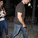 Eric Johnson leaving his birthday party.