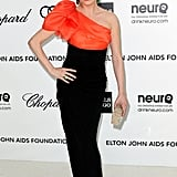 Rose McGowan slipped into a one-shouldered Paula Ka gown and toted an Edie Parker clutch for the night's afterparties.