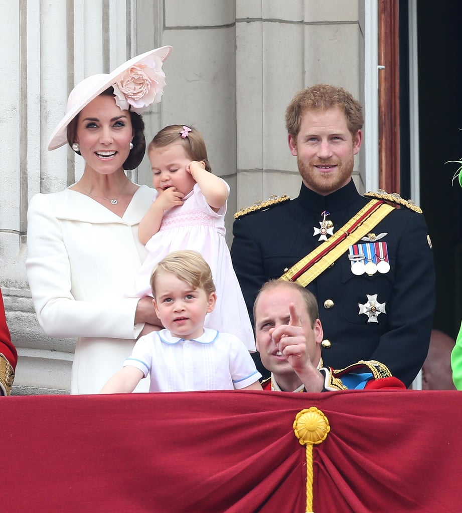 Harry proudly stood by his family's side during the annual Trooping the Colour parade — which was held in honor of the queen's 90th birthday — in London in June.