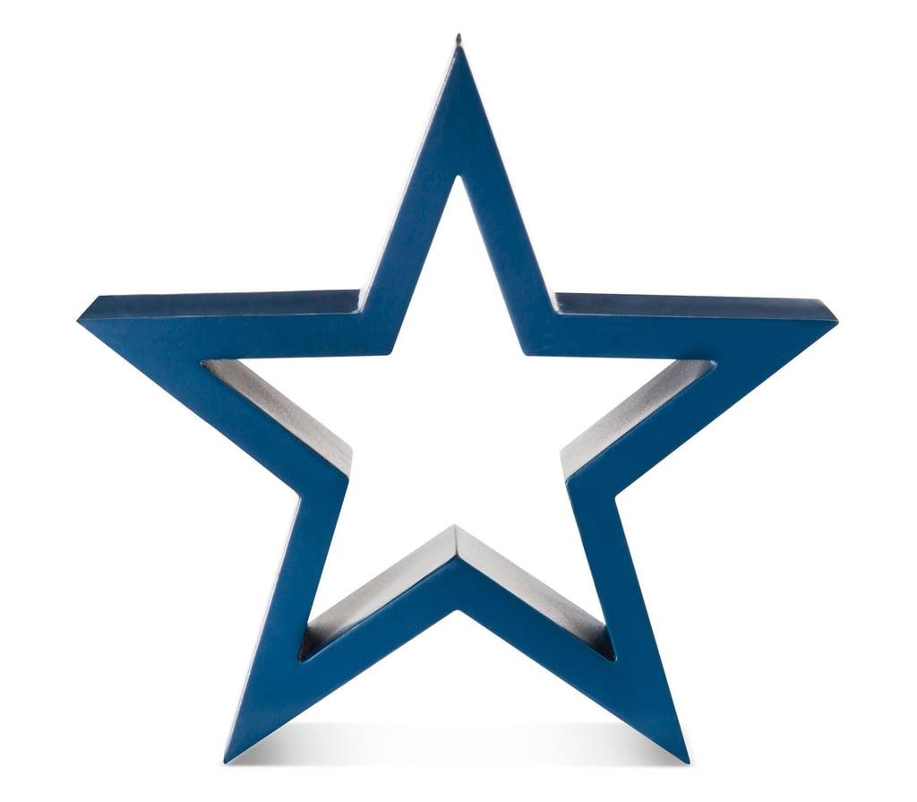 Fourth of July Blue Wood Decor Star