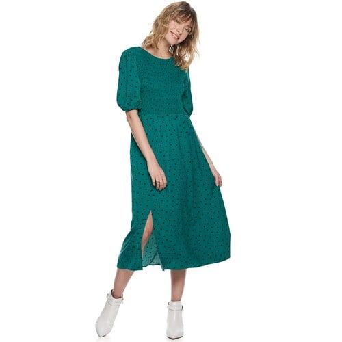 POPSUGAR Smocked Bodice Midi Dress