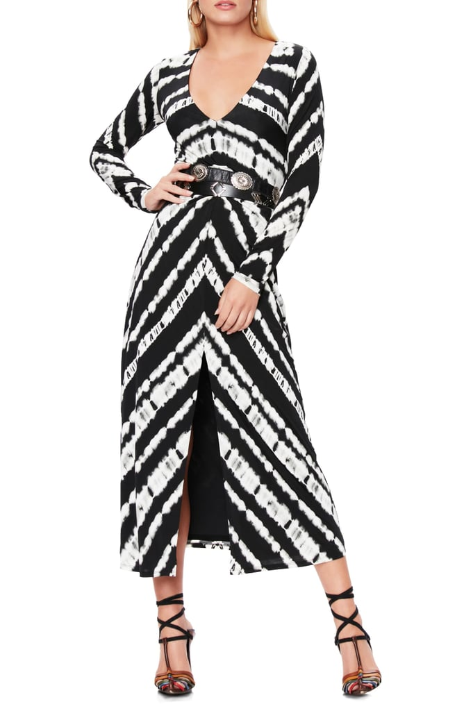 AFRM Zoey Animal Print Long-Sleeve Dress