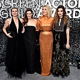 Jennifer Robertson, Sarah Levy, Catherine O'Hara, and Annie Murphy at the 2020 SAG Awards