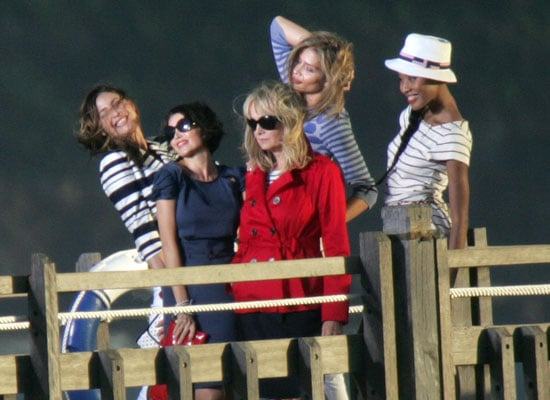 Photos of Dannii Minogue and New Models Filming M&S Advert