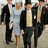 Alexander Warren, Lady Carolyn Warren, Sir John Warren, and Jake Warren walked together at the derby.