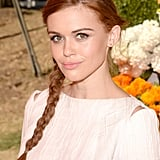 A side braid looked darling on Holland Roden.