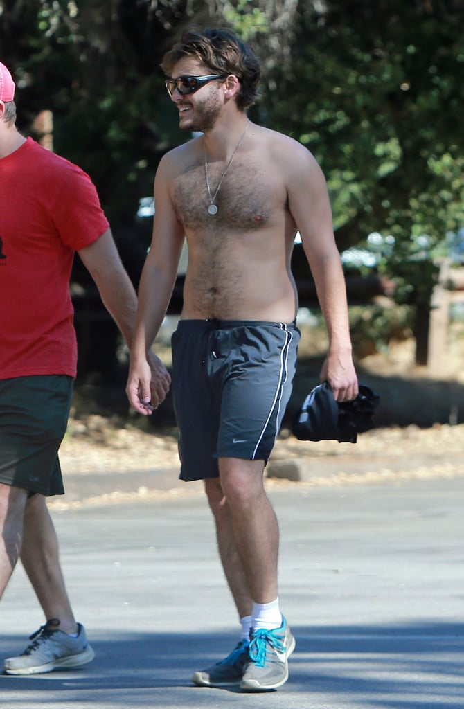 Emile Hirsch showed off his abs on a hike in LA.