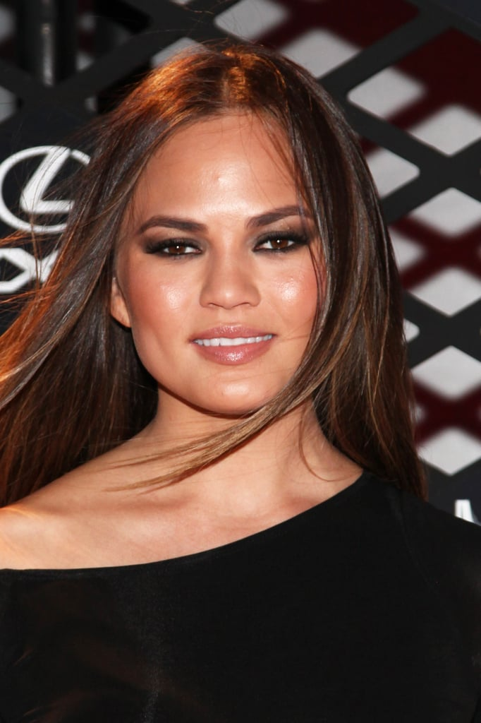Just days away from her wedding, Chrissy Teigen looked gorgeous donning silky-straight strands.