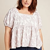 Maeve Batia Textured Babydoll Top