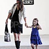 Katie Holmes and Suri Cruise wore dresses.
