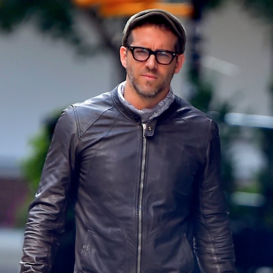 Ryan Reynolds Riding His Motorcycle in NYC August 2016
