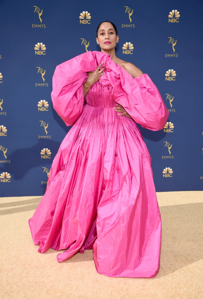 Tracee Ellis Ross in a Pink Valentino Gown at the 2018 Emmys