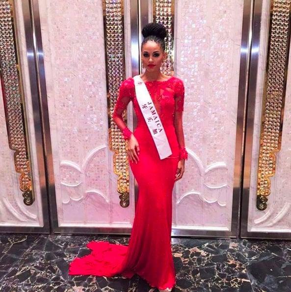 Sanneta Myrie Wears Dreadlocks at Miss World Pageant