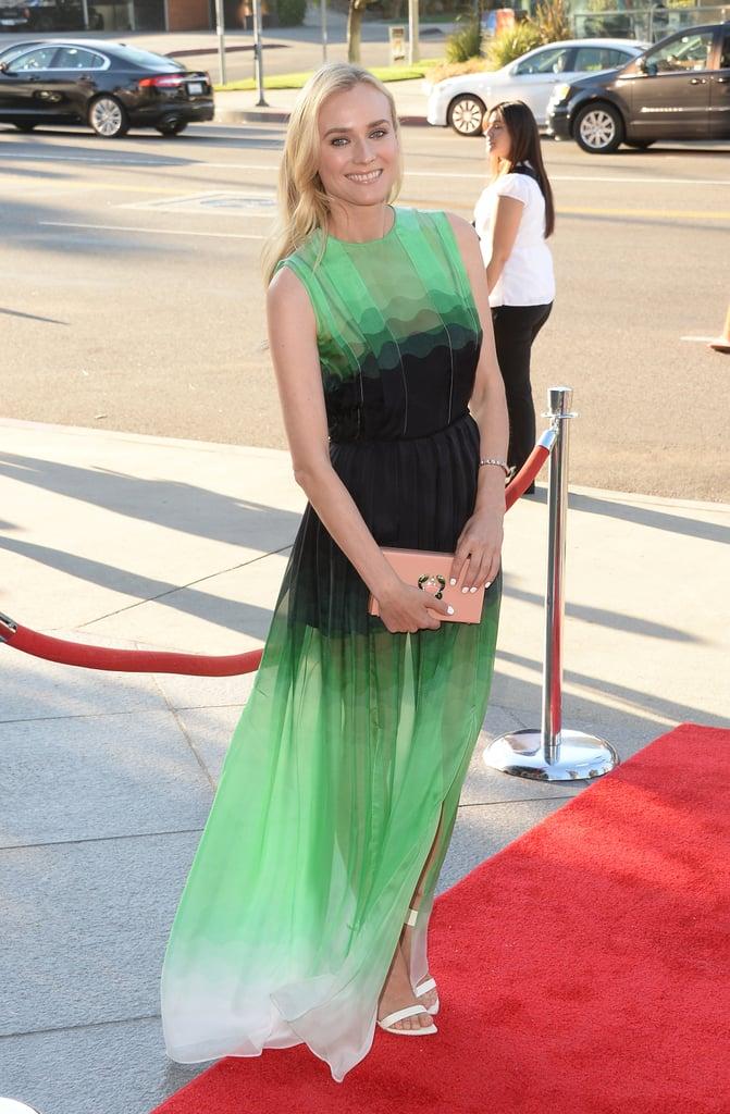 Diane Kruger Wearing Jonathan Saunders at The Bridge LA Premiere in 2013