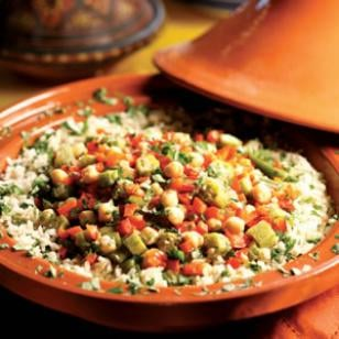 Fast & Easy Recipe For Okra And Chickpea Tagine