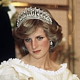 Princess Diana wore the Cambridge Lover's Knot Tiara to a banquet in 1983.