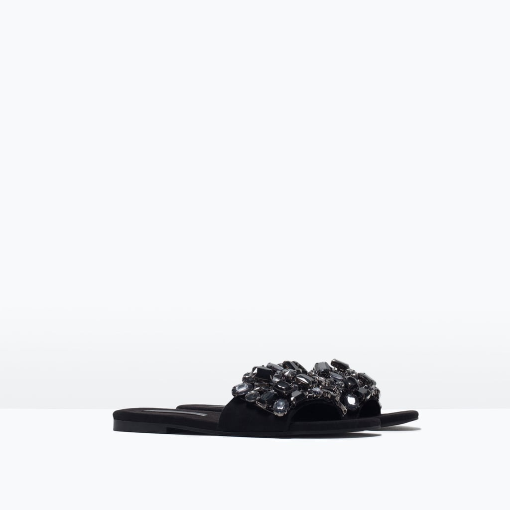 Zara Jeweled Slides
