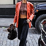 Bella Hadid's Street Style at New York Fashion Week