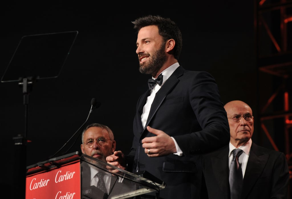 Ben Affleck stepped on stage in a tuxedo at the Palm Springs Film Festival.