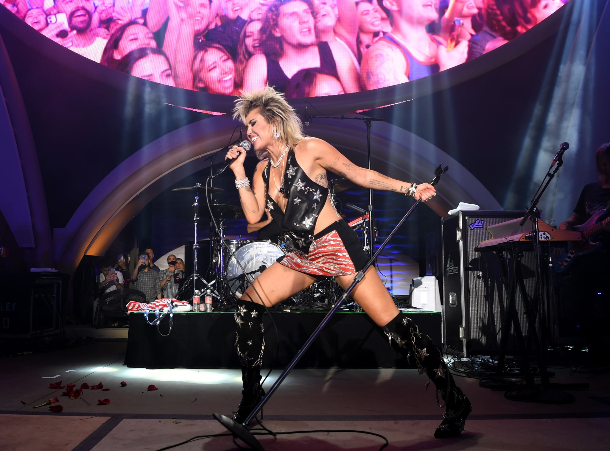 LAS VEGAS, NEVADA - JULY 04: Miley Cyrus headlines the Fourth of July grand opening celebration at Ayu Dayclub at Resorts World Las Vegas on July 04, 2021 in Las Vegas, Nevada. (Photo by Denise Truscello/Getty Images for Resorts World Las Vegas)