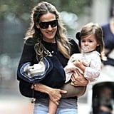 Sarah Jessica Parker holds on Tabitha in NYC.