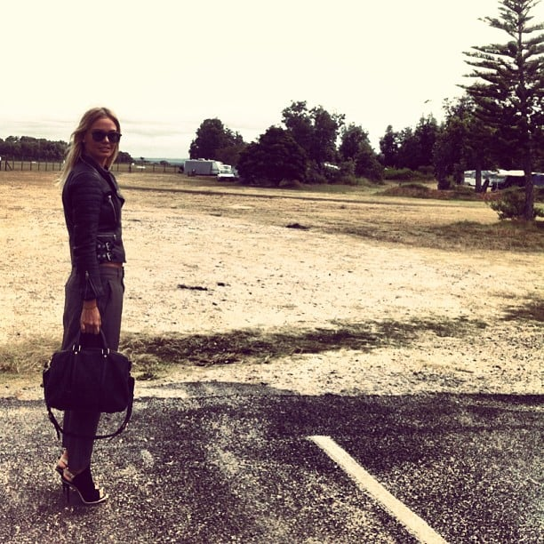 Lara Bingle gave us some serious outfit envy as she headed to a secret location for a photo shoot. Source: Instagram user mslbingle