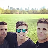 "Max Carver: ""#NYC @charliecarverofficial @maxcarver @danielsharmanofficial"""