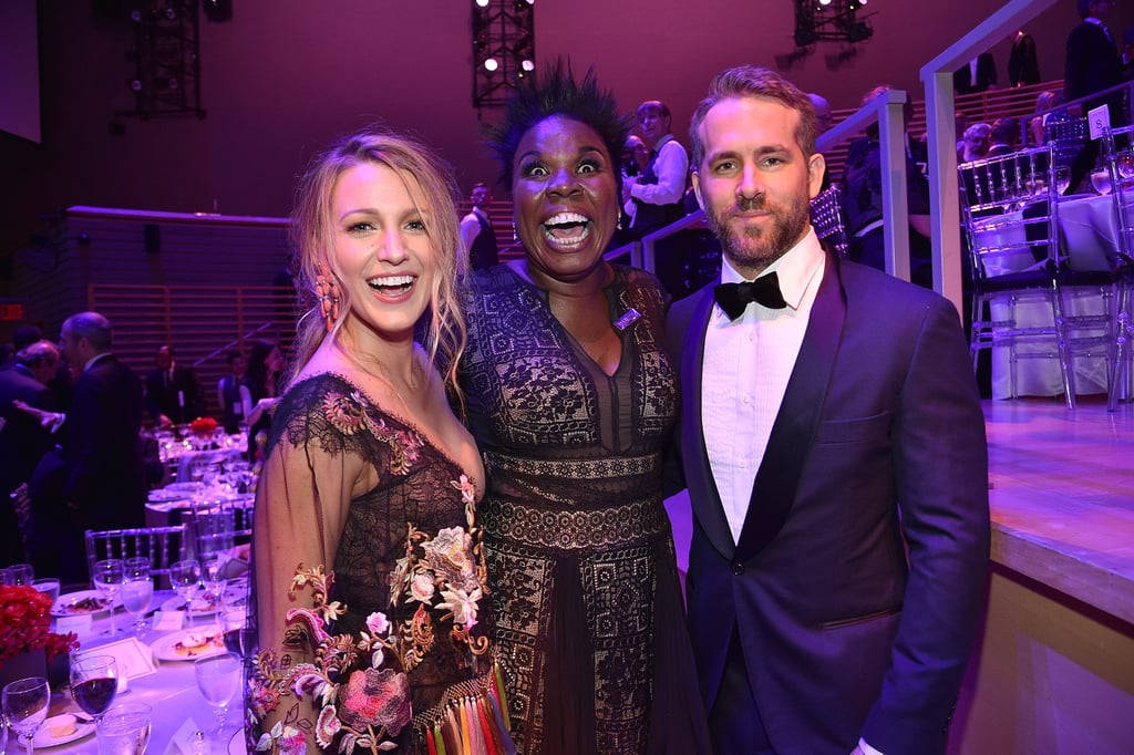 Leslie Jones With Ryan Reynolds at Time 100 Gala 2017
