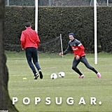 David Beckham showed off his skills during his first training session with Paris Saint-Germain.