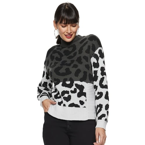 Nine West Leopard Print Sweater