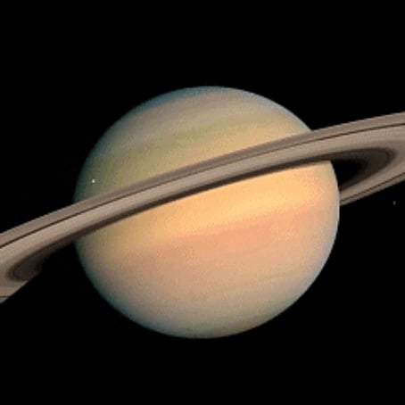 NASA GIF of Saturn