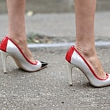 Heels with a little color kick.