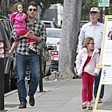 Ben Affleck shopped for Mother's Day gifts with daughters Violet and Seraphina in LA.