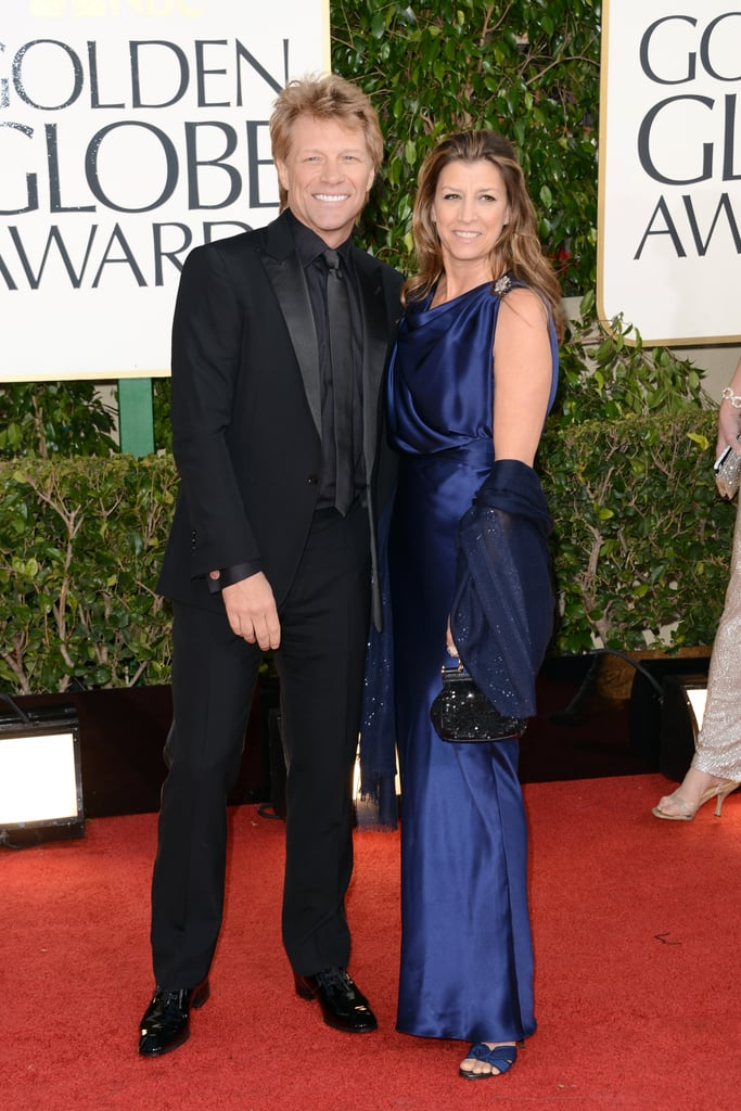 Jon Bon Jovi And Dorothea Hurley 2013 Golden Globes Red Carpet