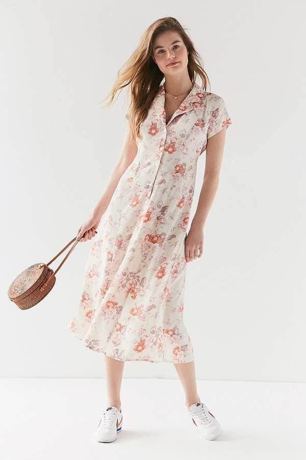 4603f8af91d Urban Renewal Vintage Remnants Floral Button-Down Midi Dress | Cute ...