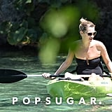 Kate Moss went kayaking in Jamaica.