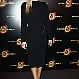 Jennifer Lawrence poses at The Hunger Games premiere in Paris.