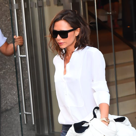 Victoria Beckham Wearing Boyfriend Jeans September 2016