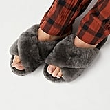 Warm slippers to keep their feet comfy.