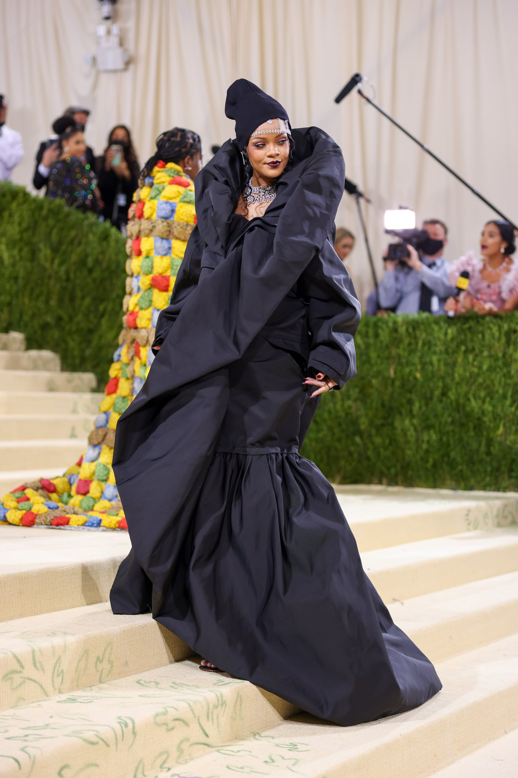 Rihanna's Balenciaga Dress at the Met Gala 2021   POPSUGAR Fashion